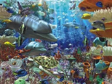 Artist DavidPenfound OceanicWonders Fantasy Art Jigsaw Puzzels Ravensburgers # 170272 3000 Pieces oceanicwonders