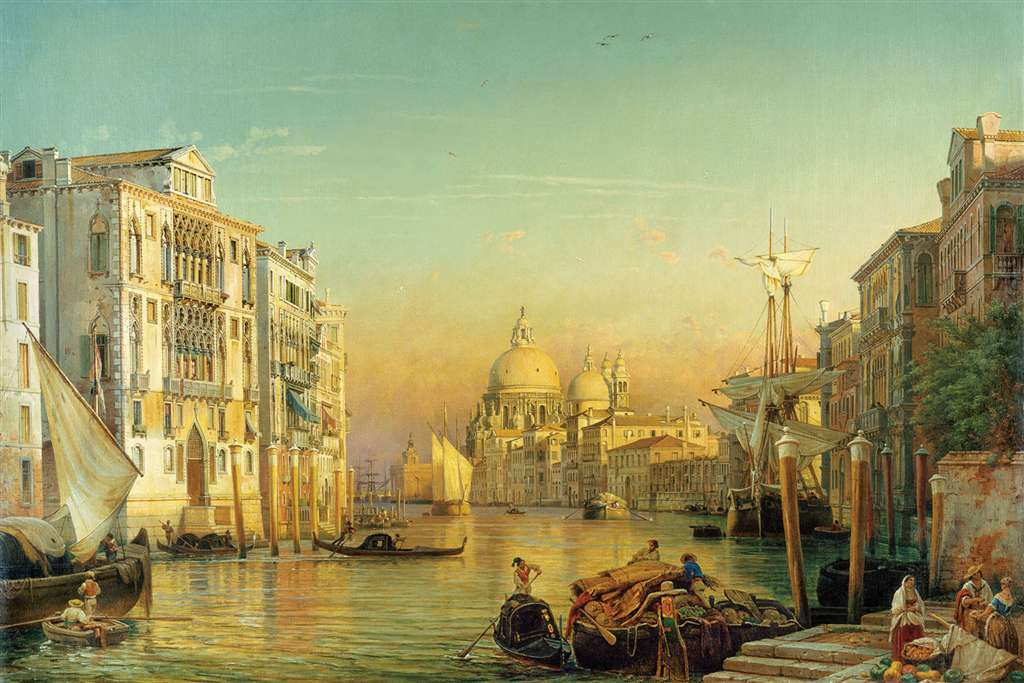 grand canal venice Painting Jigsaw Puzzle by Ravensburger JigsawPuzzles Germany friedrich nerly grand-canal-venice-friedrich-nerly