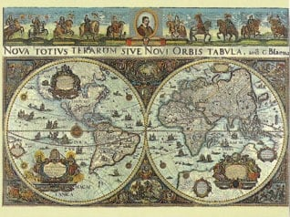 World Map 1665 Historical 3000 Pieces Jigsaw Puzzle by Ravensburger Puzles Germany # 170548 1665worldmap