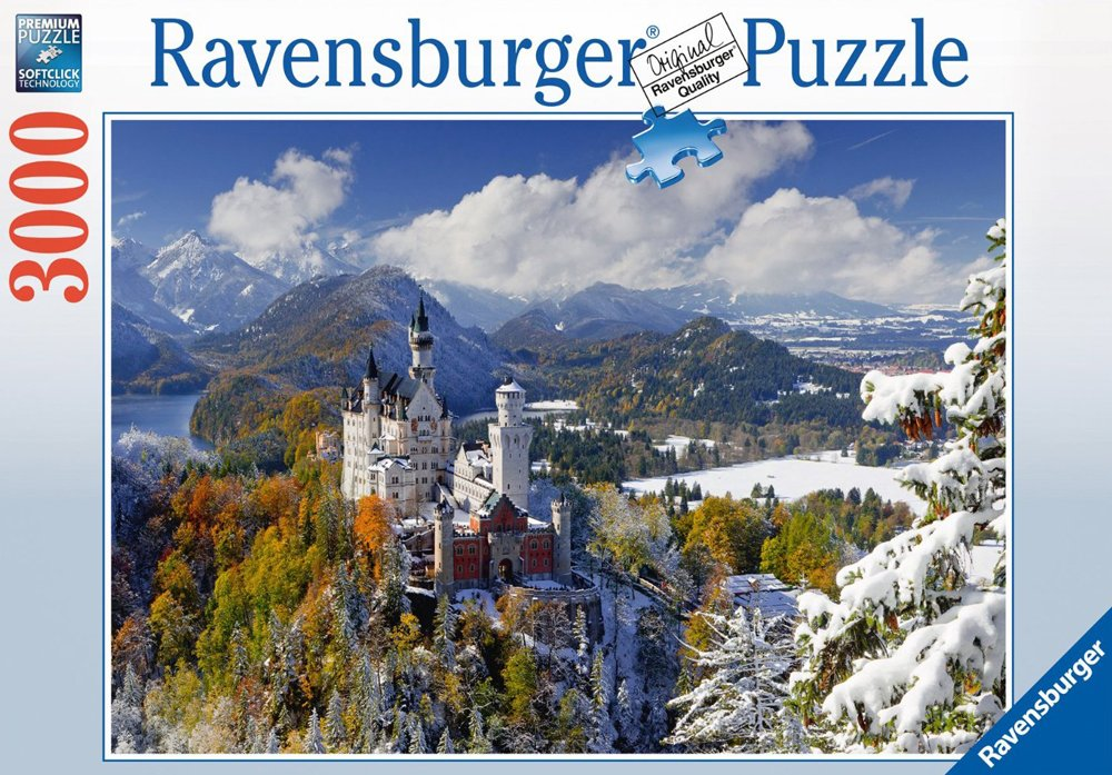 Neushwanstein Castle in Winter 3000Piece JigsawPuzzle by Ravensburger Germany neuschwansteincastleinwinter-3000