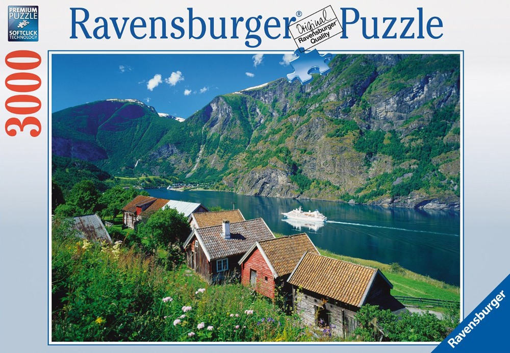 Sognefjord, Norway 3000 piece jigsaw puzzle by Ravensburger gorgeous scenery photography sognefjord-norway