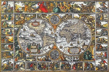 Historical MapoftheWorld 5000Pieces Jigsaw Puzzels by Ravensburger Games # 174157 historicalmapoftheworld