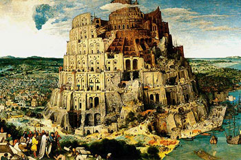 Tower of Babel 5000 piece jigsaw puzzle painted by Peter Bruegel Elder Ravensburger Games Germany thetowerofbabel