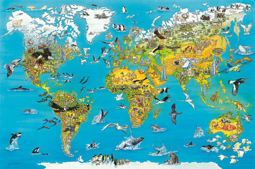 Fascinating Earth 5000 Pieces JigsawP uzzel Ravensberger Games Germany # 174287 PuzzlePieces fascination-earth