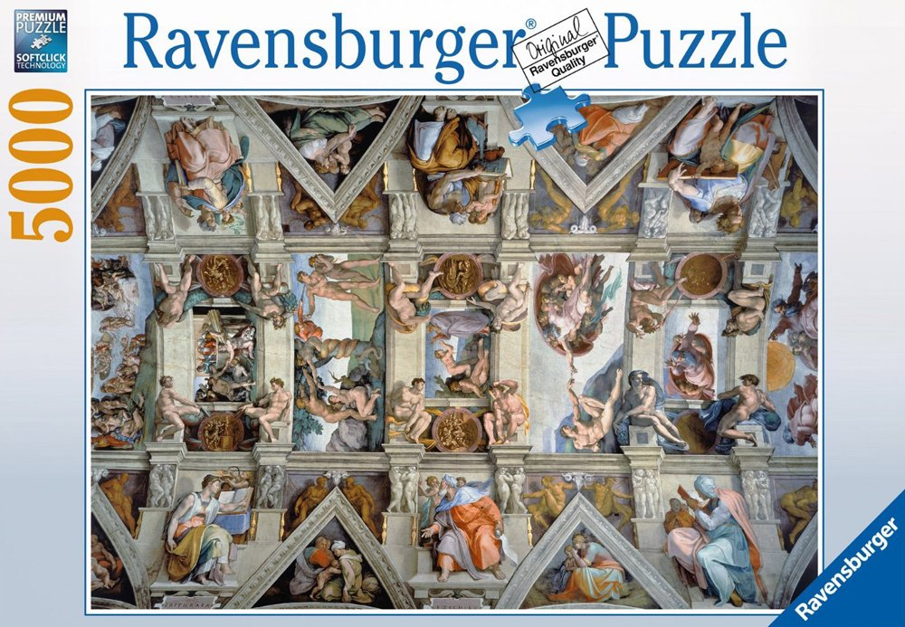 Michel Angelo panoramic sistine chapel painting puzzle jigsaw clementoni 314515 museum series sistine-chapel-5000