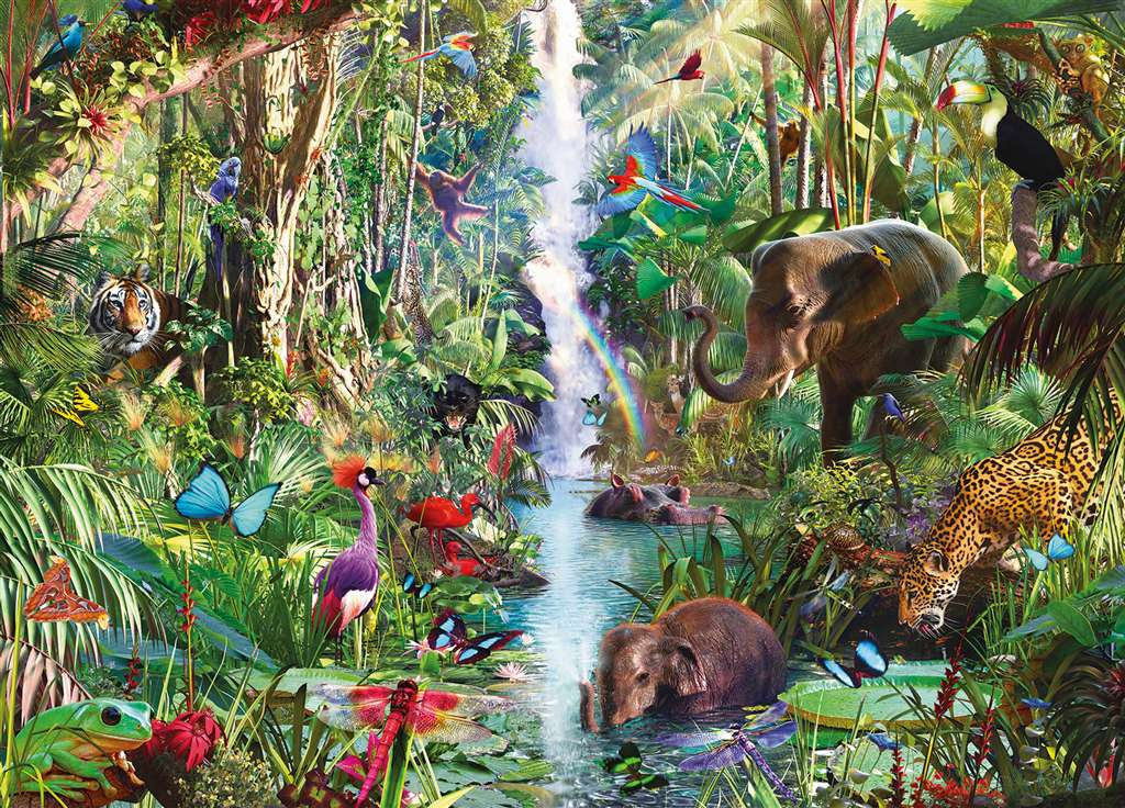 Jungle Animals 9,000 Pieces made by Ravensburger item # 178018 by David Penfound jungle-animals-9000