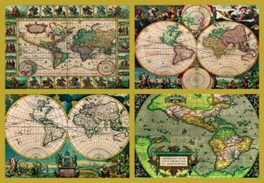 Cartography Map cartographical historical accuracy 18000 Pieces largest puzzle ever made 4historicalworldmaps