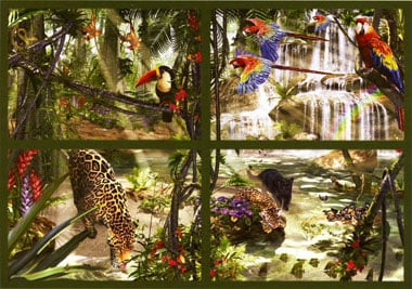 The Largest Jigsaw Puzzle in the World 18000 Pieces made by Ravensburger item # 178346 Tropical tropicalimpressions