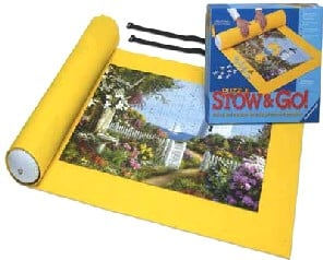 puzzle stow & go roll up and transport your puzzle while in progress mat measures 46X26 puzzle-mat-stow-and-go