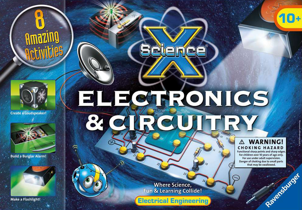 Electronics & Circuitry science activity with 8 amazing activities by ravensburger electronics-circuitry