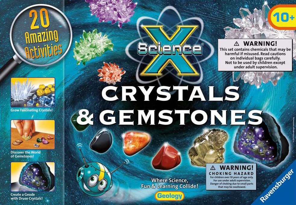 crystlas and gemstones science activity with 20 amazing activities by ravensburger crystals-gemstones