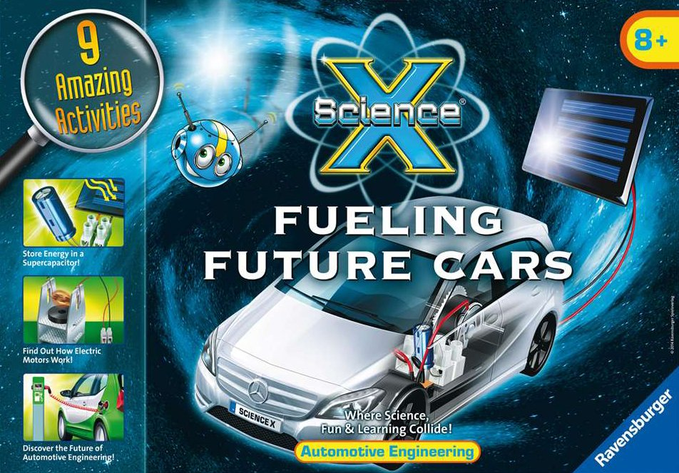 Fueling Future Cars science activity with 9 amazing activities by ravensburger fueling-future-cars