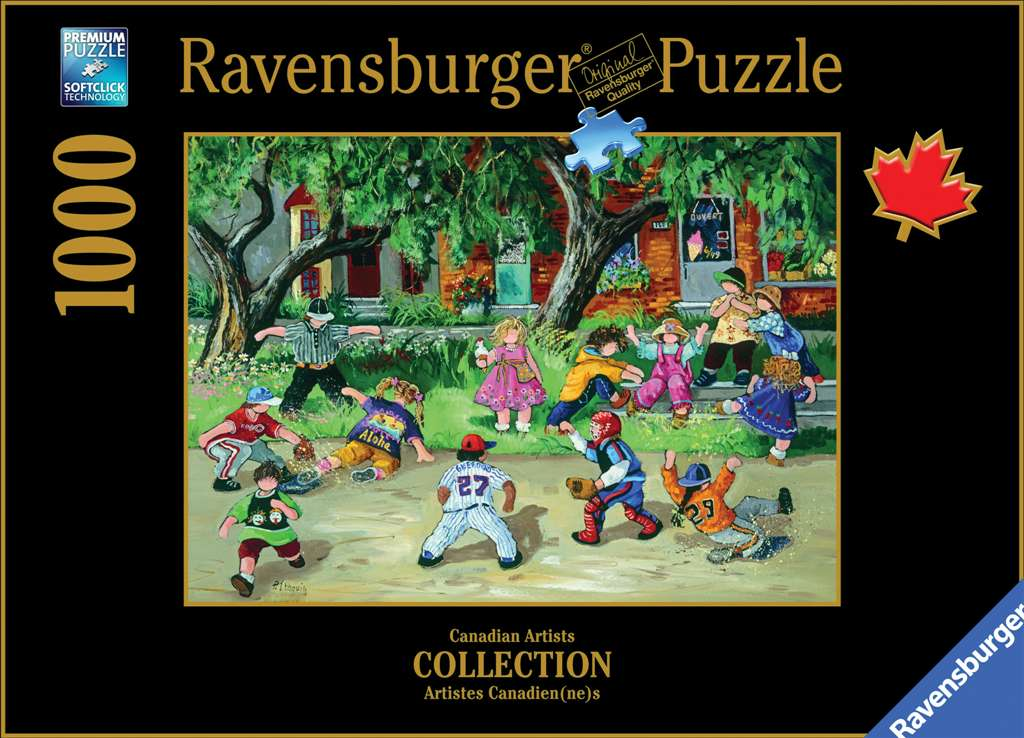PaulinePaquin Quebec Artiste Baseball Game Ravenbsurger JigsawPuzzles thousand pieces jigsaws p baseball-game-pauline-paquin-puzzle