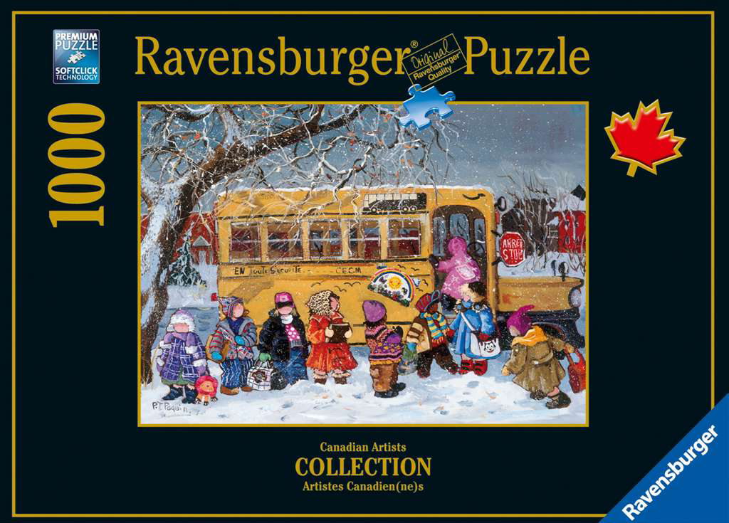 PaulinePaquin QuebecArtist Back to School Ravenbsurger JigsawPuzzles thousand pieces jigsaws puzzels back-to-school