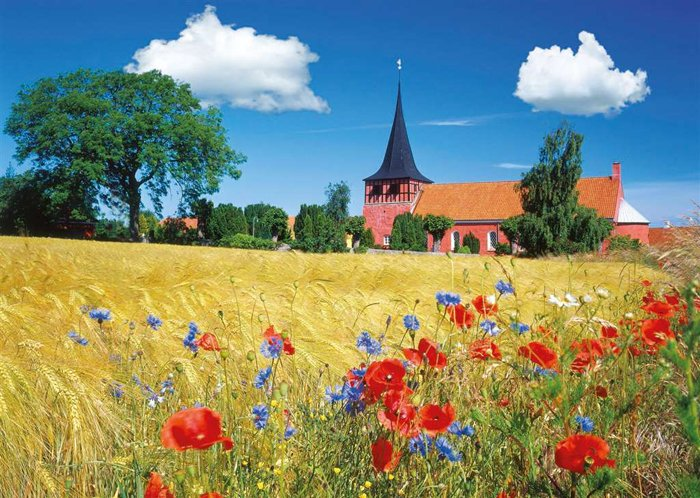 Church in Bornholm, Denmark jigsaw puzzle ravensburger puzzle 190492 church-in-bornholm