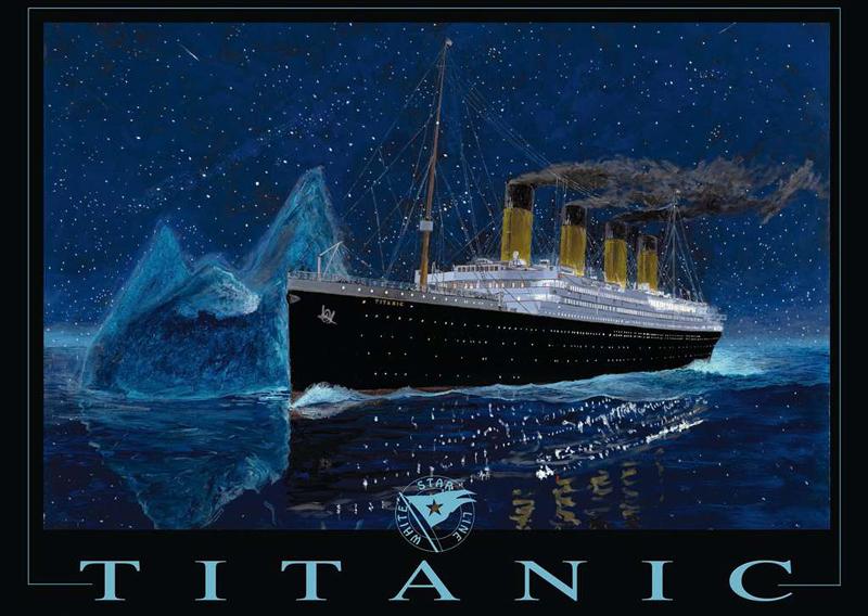 Ravensburger Puzzle Jigsaw titanic drawn by artist richard derossett titanic-ravensburger