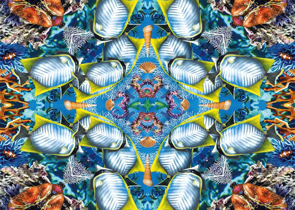 Ocean Kaleidoscope Artistic Illustration 1000 Piece Jigsaw Puzzle by RavensburgerPuzzles Germany # 1 ocean-kaleidoscope
