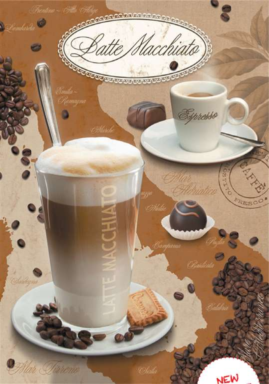 Jigsaw Puzzle 1000 pieces Latte Macchiato photo by Ute Nuhn manufactured by Ravensburger latte-macchiato