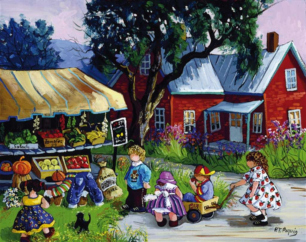 PaulinePaquin Quebec Artiste The Kiosque Ravenbsurger JigsawPuzzles thousand pieces jigsaws p the-kiosk-paquin