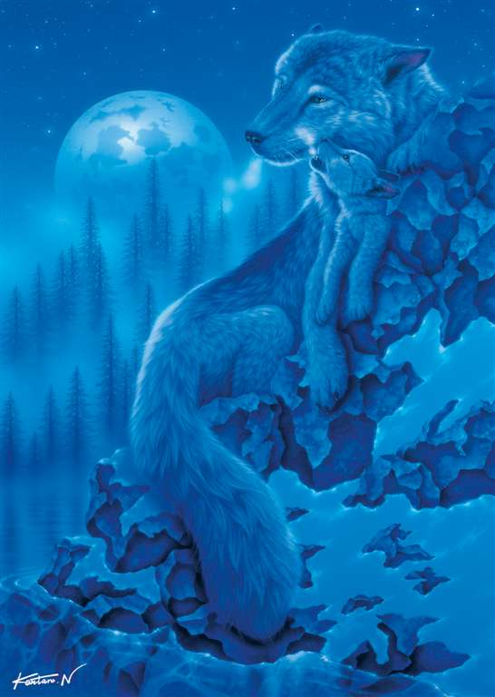 Ravesburger JigsawPuzzle 1000 pieces Starline Moonlight Wolves kentaro nishino beautiful colors 1911 moonlight-wolves