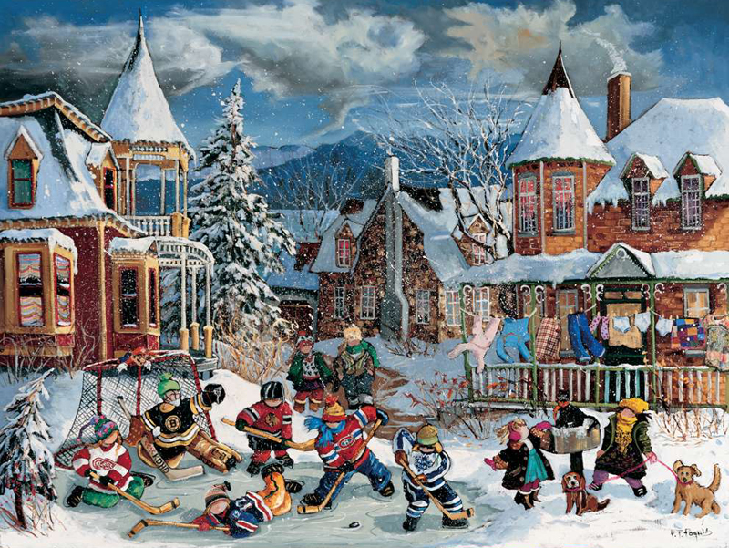 PaulinePaquin QuebecArtist One Last Game Ravenbsurger JigsawPuzzles thousand pieces jigsaws puzzel one-last-game
