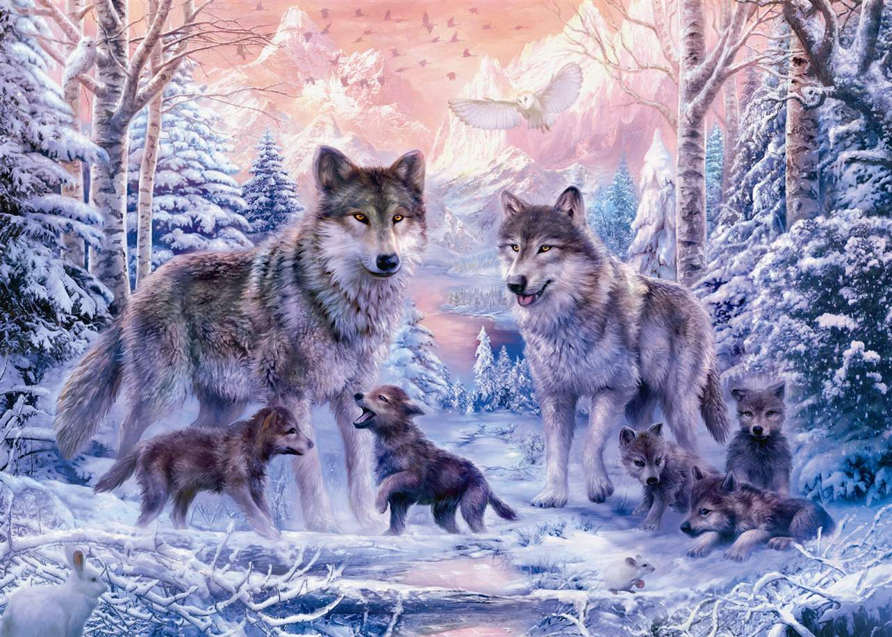 Ravesburger Jigsaw Puzzle 1000 pieces Arctic Wolves 191468 arctic-wolves-1000