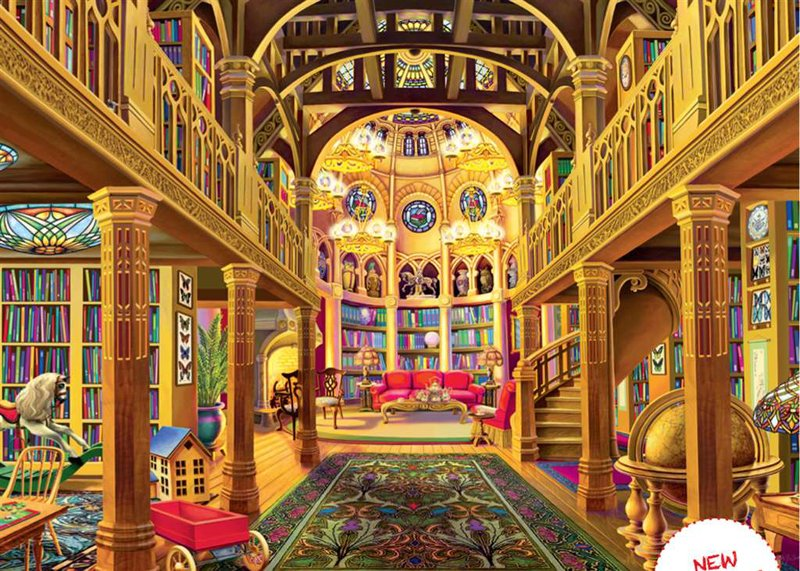 world of words library of light by sally j. smith painter jigsaw puzzle ravensburger 1000 pieces world-words-ravensburger