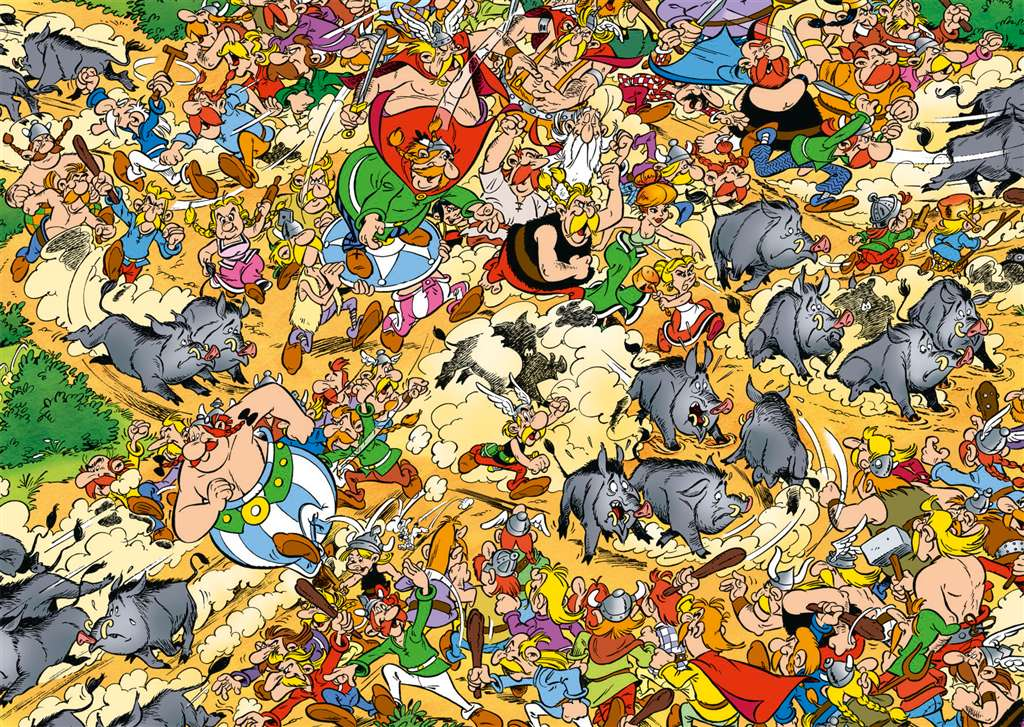 Asterix Total Chaos Cartoon Illustration 1000 Pieces Jigsaw Puzzle by Ravensburger Puzzles # 191635 asterix-total-chaos
