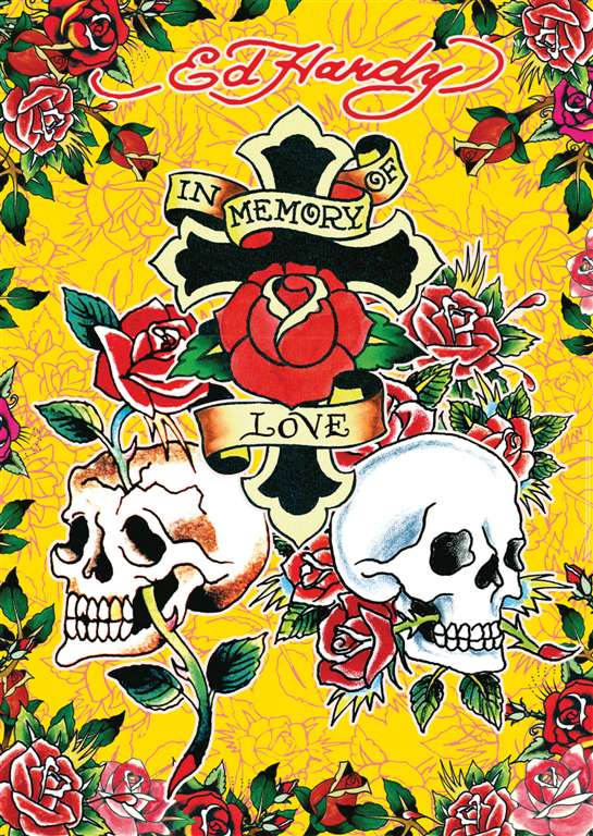 ed hardy memory of love tattoo art as 1000Piece Puzzle by RavensburgerJigsawPuzzles ed-hardy-memory-of-love