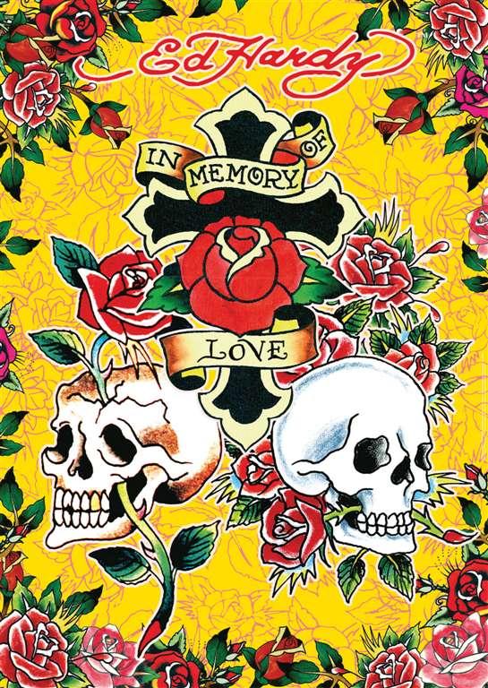 ed hardy memory of love tattoo art as 1000Piece Puzzle by RavensburgerJigsawPuzzles ed-hardy-memory-of-love