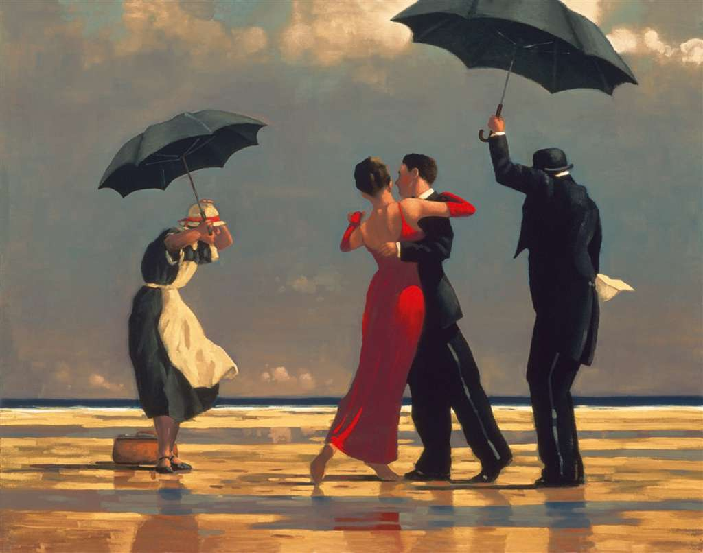 The Singing Butler by painter Jack Vettriano 1000Piece JigsawPuzzle by Ravensberger Puzzles singing-butler