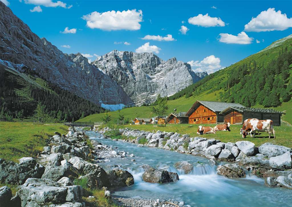 austrian mountains austria beauty puzzle ravensburger 1000 pieces # 192168 austrian-mountains