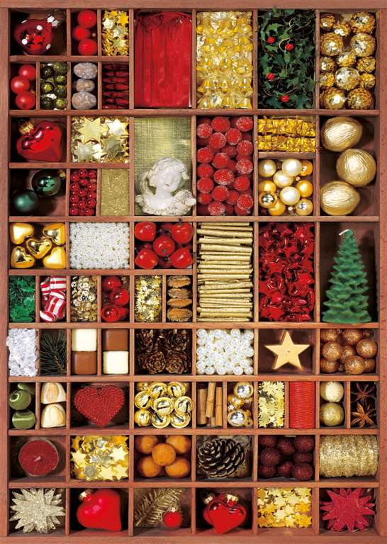 Candice Valeureuse Artist winter holiday baubles christmas ravenbsurger JigsawPuzzle # 192397 holiday-baubles