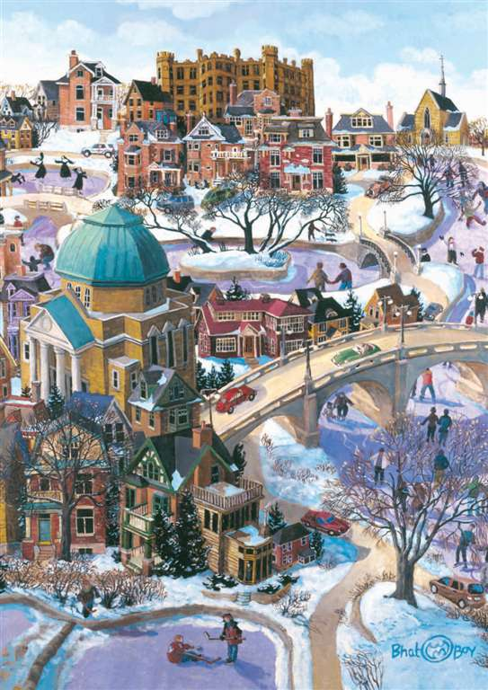 Puzzel Ravensburger Games Germany winter on the rideau canal bhat boy Ontario Artist Childhood theme winter-on-the-rideau-canal