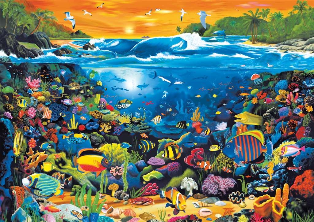 Underwater Fun Fantasy Artistic Illustration 1000 Piece Jigsaw Puzzle by RavensburgerPuzzles Germany underwater-fun