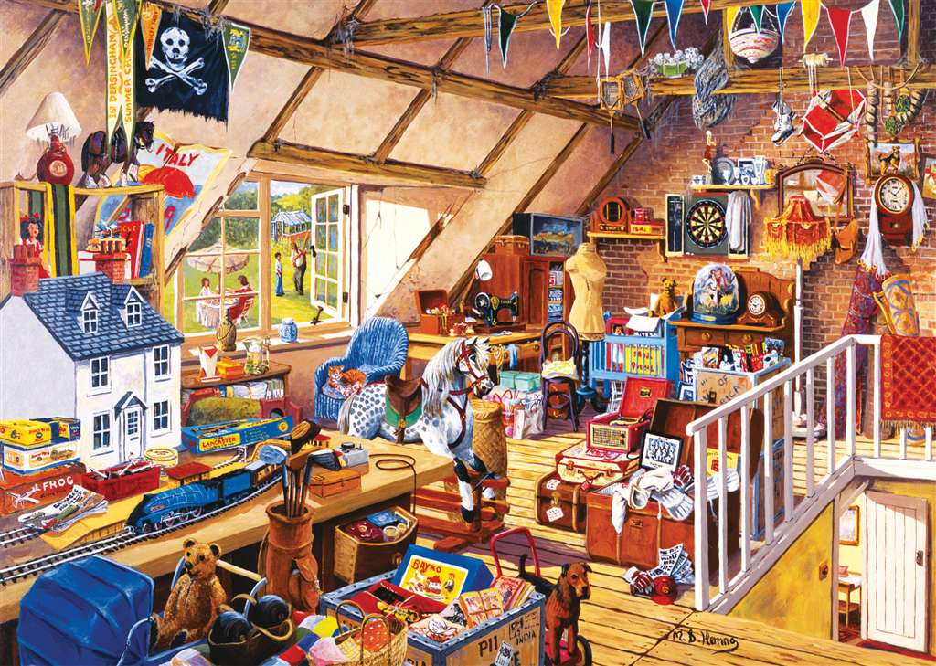 Ravensburgher Jigsaw Puzzle 1000 Pieces Michael Herrings' Grandma's Attic grandmas-attic