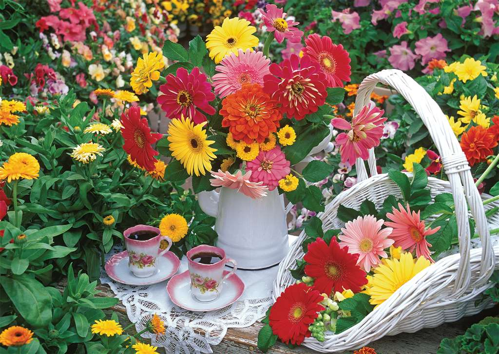 Nancy Matthews Flowery Tea Party 1000 Pieces Jigsaw Puzzle by Ravensburger Puzzles & Games # 192731 flowery-tea-party