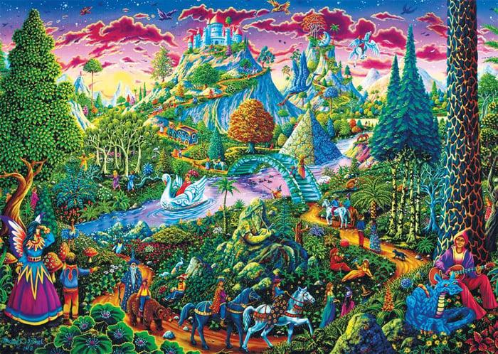 fantastic journey fantasy artwork michael fishel jigsawpuzzle by Ravensberger Games fantasticjourney fantastic-journey-1000