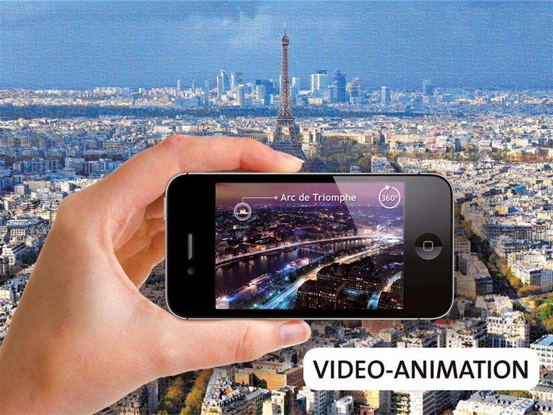 over roof tops of paris augmented reality jigsaw puzzle 1000 pieces ravebnsburger germany over-rooftops-paris