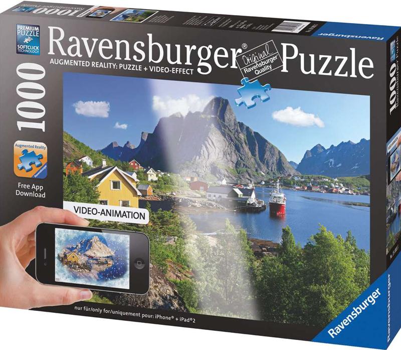 norwegian fjord photo cruise ship jigsaw puzzle ravensburger puzzle lofoten-norway
