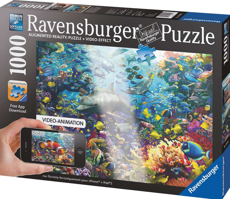 Colorful Underwater Kingdom Fantasy Artistic Illustration 1000 Piece Jigsaw Puzzle by RavensburgerPu colorful-underwater-kingdom