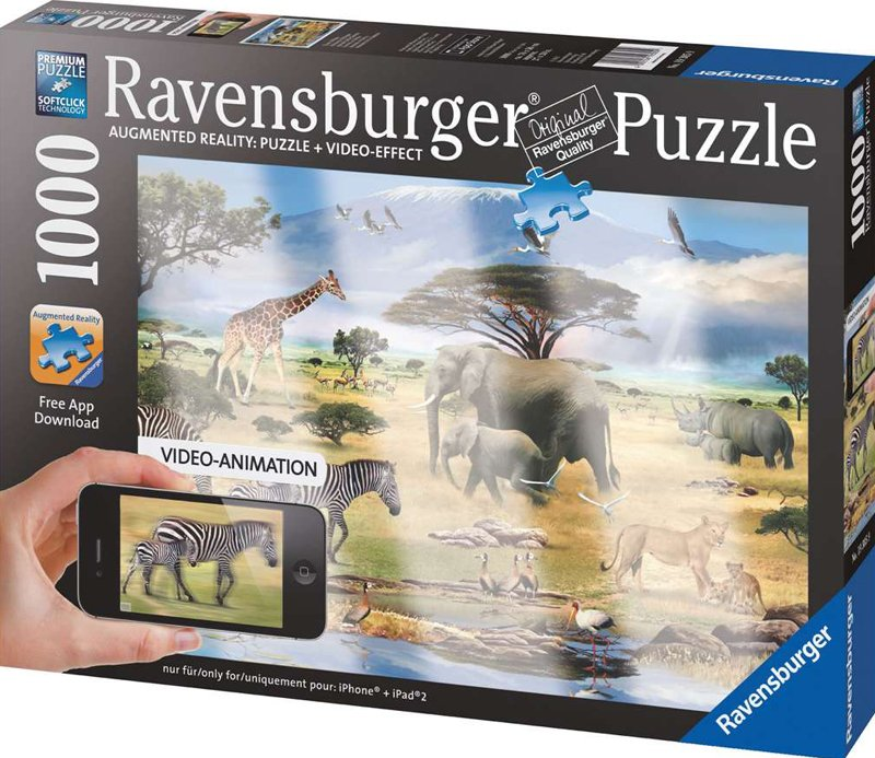 Ravesburger JigsawPuzzle 1000 pieces Animals of Africa painted by Howard Robinson beautiful colors 1 animals-of-africa