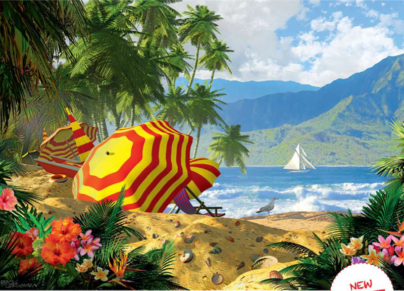 island getaway larry jacobsen painting puzzle ravensburger 1000 pieces jig saw puzzel island-getaway-ravensburger-puzzle-1000pieces