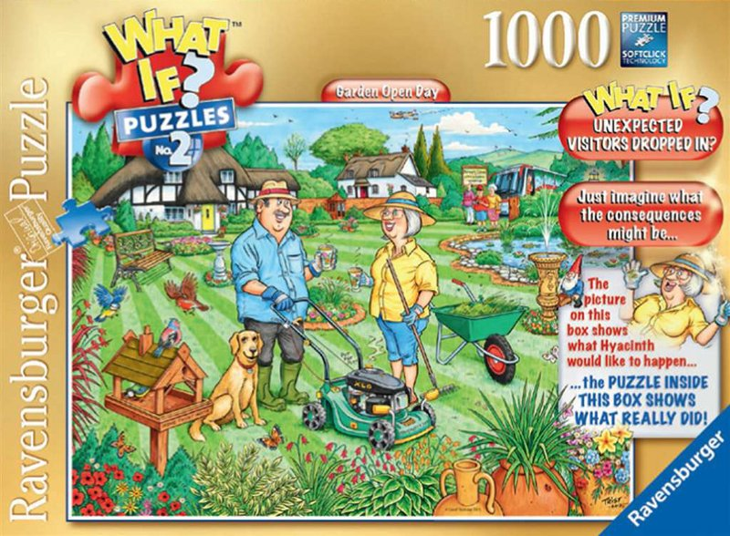 What If? Puzzle # 2 titled Garden Open Day, Made by Ravensburger Jigsaw Puzzles # 193226 garden-open-day-what-if-puzzle