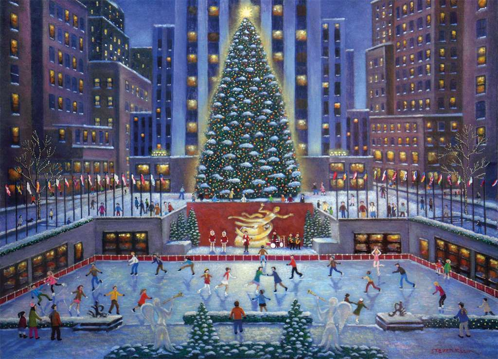 Steve Klein Artist new york city christmas giant xmas tree on skating rink in nyc christmas Ravenbsu nyc-christmas