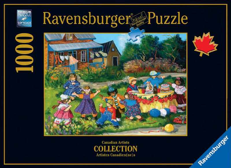 PaulinePaquin Quebec Artiste Celebration Ravenbsurger JigsawPuzzles thousand pieces jigsaws celebration-pauline-paquin-puzzle