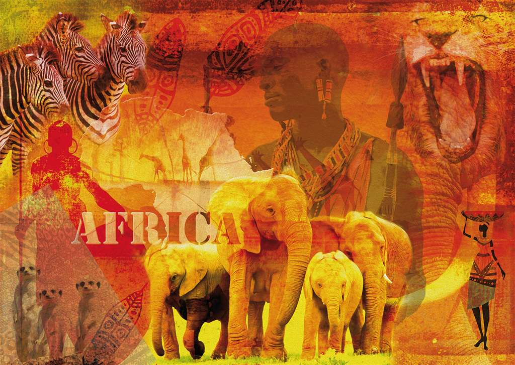 ravensburger jigsaw puzzle, 1000 pieces, photomosaic of african impressions by fotolia ravensburger impressions-africa