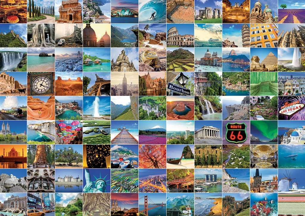 99 Beautiful Places on Earth 1000 Piece Jigsaw Puzzle Manufactured by Ravensburger Puzzles Germany 99-beautiful-places-earth
