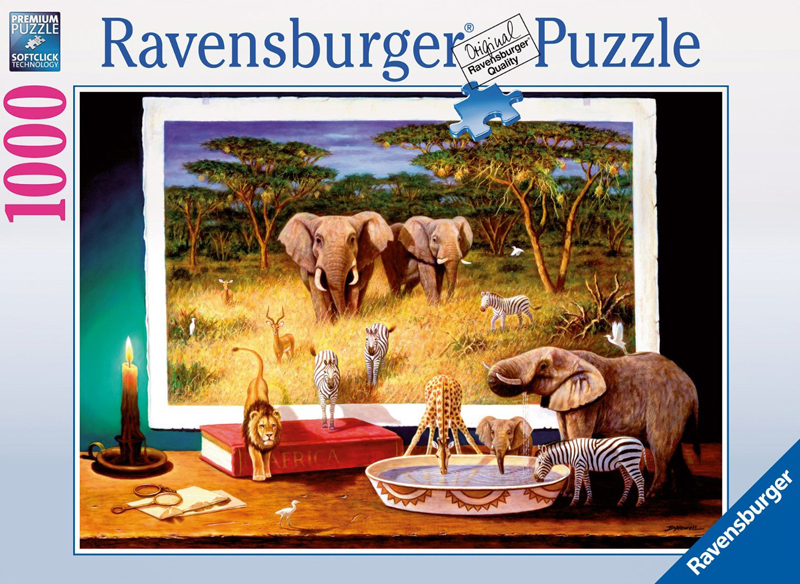 Ravesburger JigsawPuzzle 1000 pieces elephants and night time visitors 193745 nighttime-visitors