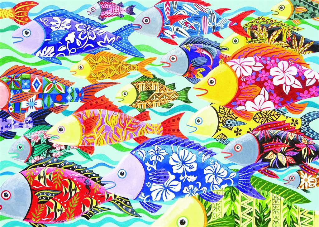 Hawaiian Fish puzzle 1000 pieces by Ravensburgerjigsawpuzzles hawaiian-fish